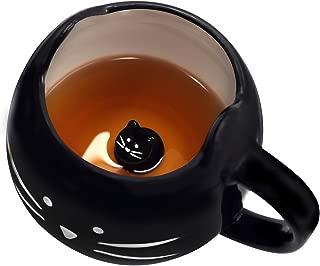 Koolkatkoo Cute Ceramic Cat Coffee Mug 12 oz Cat Lovers Kitty Tea Mugs Gifts for Women Girls Black …
