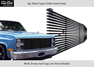 APS Compatible with 1981-1988 Chevy Blazer C K Pickup Stainless T304 Black Billet Grille Grill N19-J20058C