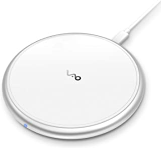 Fast Wireless Charger, Vebach Dubhe1s Qi Certified Wireless Charging Pad 7.5W Compatible iPhone Xs/Xs Max/XR/X/8/8Plus, 10W Compatible Samsung Galaxy S10/S9/S9+/S8/S8+/LG G7, Aluminum Frame-White