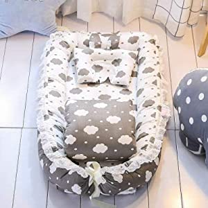 Ann Baby Crib Sets With Quilt Pillow Pure Cotton Baby Nest Travel Crib Bed Cradle Cots For Newborns Portable Washable A