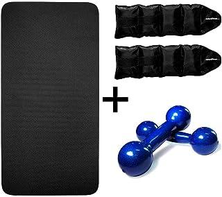 Kit Musculação Fitness Halter Colchonete Caneleira Peso