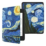TiMOVO Case Compatible for Kindle Paperwhite E-Reader (10th Generation, 2018 Release) - Slim Lightweight PU Leather Cover with Auto Wake/Sleep Fit Amazon Kindle Paperwhite, Starry Night