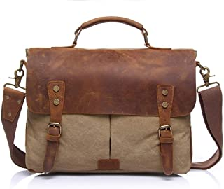 Rjj Men's Travel Bag Canvas Bag Vintage Large Capacity Clutch 36 * 12 * H28CM Exquisite (Color : Brown)