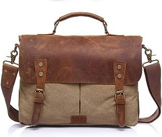 RJW Men's Travel Bag Canvas Bag Vintage Large Capacity Clutch 36 * 12 * H28CM Fashion (Color : Brown)