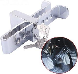 Vosarea Trava de embreagem de aço inoxidável auto anti-roubo trava de freio de carro 21,5 cm (prata)