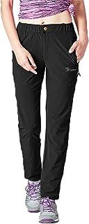 TBMPOY Women's Outdoor Quick Dry Lightweight Hiking Mountain Pants Zipper Pockets