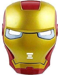 Children's Halloween Glowing Face Mask LED Glowing Superhero Iron Man Mask Avenger Marvel Luminous