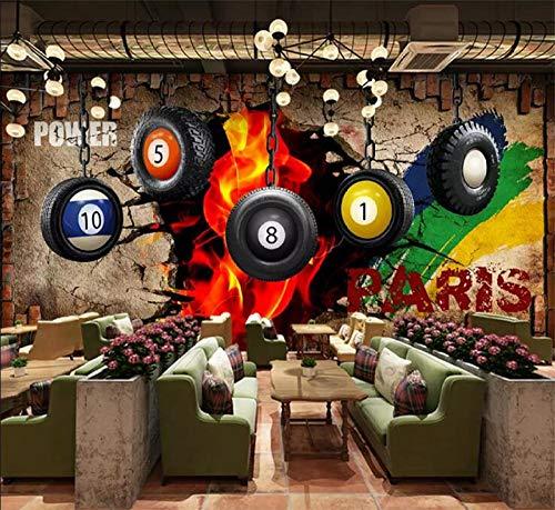 YCRY - Fototapete - Tapete Billard Bild Walmart 3D Tischtennis Poster - Moderne Wanddeko - Design Tapete - Wandtapete - Wand Dekoration-280x200cm