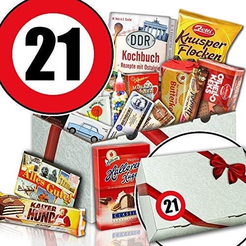 Zum 21. Geschenkidee zum Geburtstag - Geburtstag Geschenk Box - Süße DDR Box