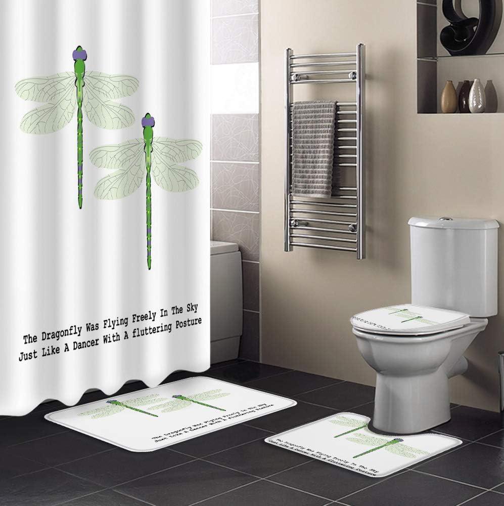SIGOUYI 4 Ranking TOP10 2021 model Pcs Shower Curtain Sets Non-Slip Rug Hooks Toile with