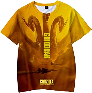 Kid's Novelty 3D Shirts Unisex Godzilla 2 King of Monsters Printed Hooded Pullover Top Tee