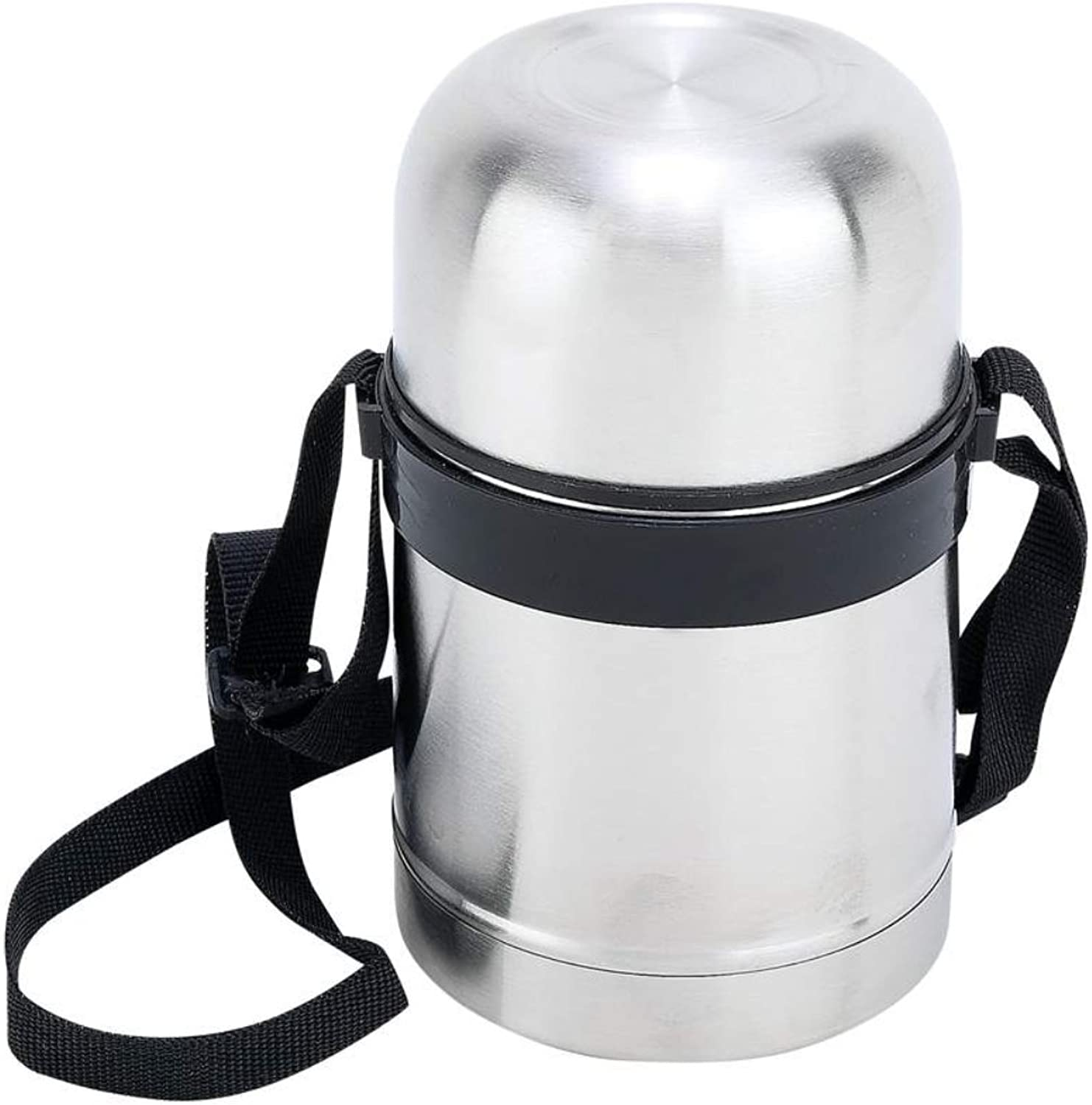 popular Stainless Steel 17 oz oz oz Vacuum Soup Container with Carrying Strap by Maxam  tienda de descuento