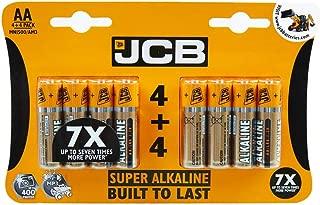 JCB Super Alkaline AA/LR6 Battery Pack of 4+4 (8 Pack)