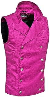 Darkrock Men's Double-Breasted Vest Waistcoat Gothic Aristocrat Steampunk Victorian