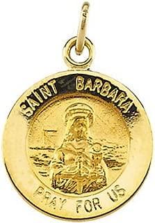 14k Yellow Gold St. Barbara Medal