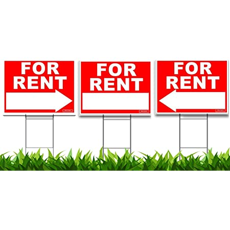 For Rent Sign with Info Box For Rent Sign with Brochure Box