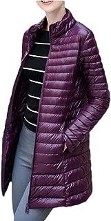 Women's Ultra Light Weight Outdoor Packable Coat Outwear Long Puffer Down Jackets