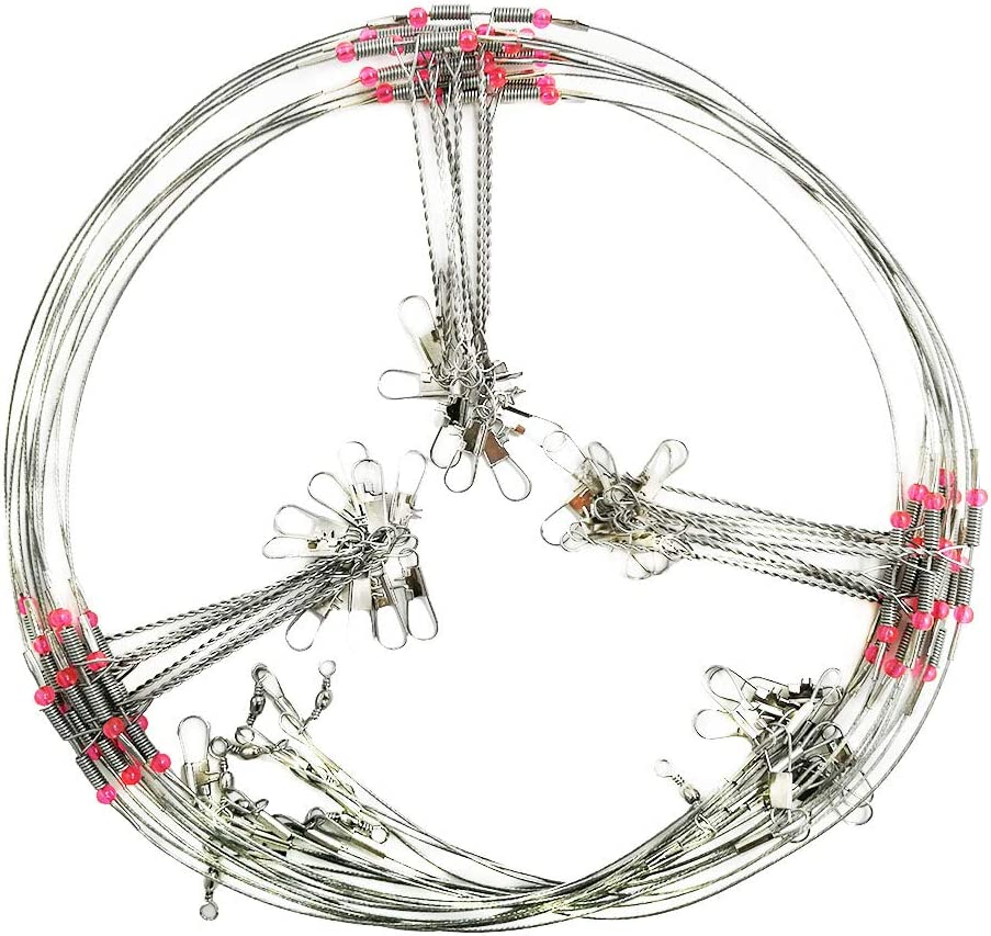 Drchoer 10pcs Ranking TOP4 Fishing Wire Leader Steel Wir 70LB Ranking TOP9 Stainless Trace