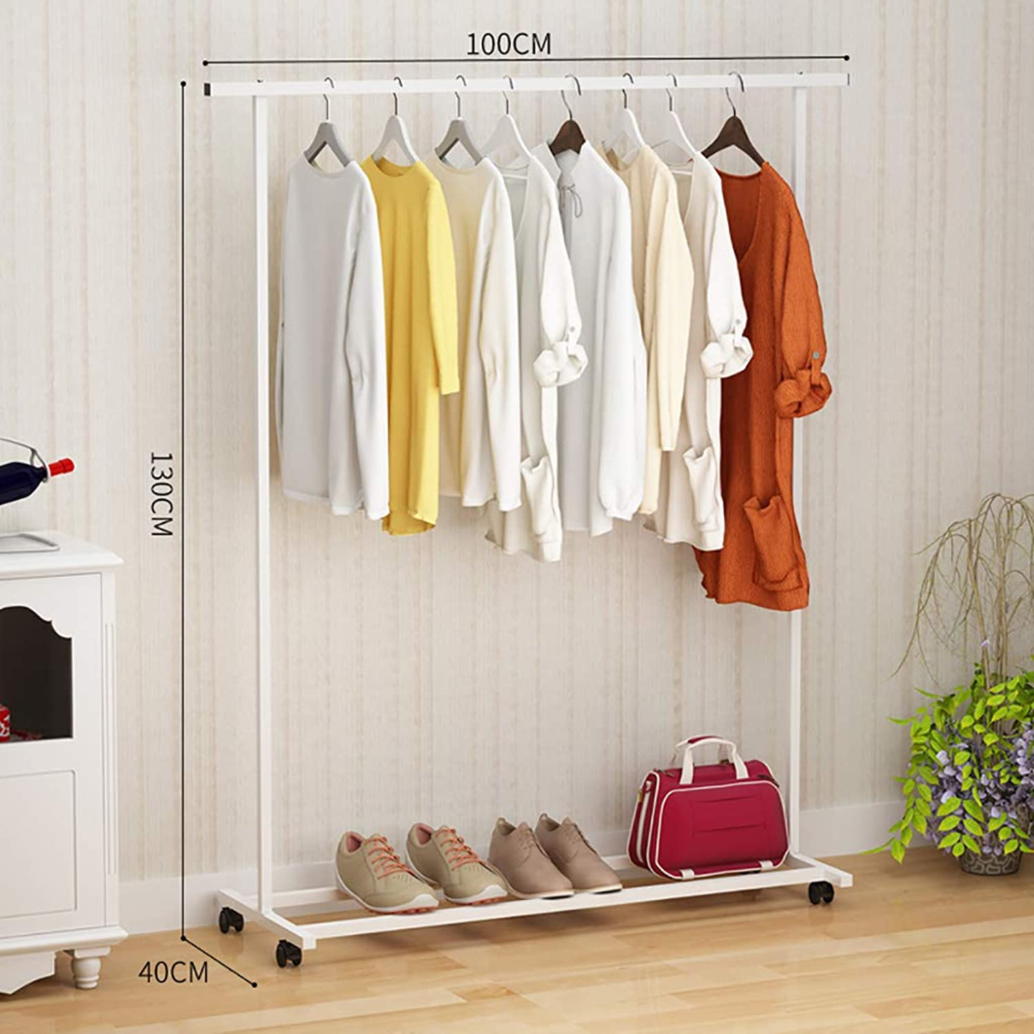 ZHBWJSH Coat Rack Simple greenical Hanging Clothes Rack Modern Simple Single Rod Hanger (color   D)