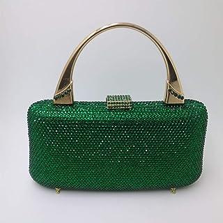 f7c2b5c9b2 LUSESKY Femmes Emeraude Cristal Vert Embrayages Boîte Dur Sacs De Soirée  Bandoulière Sac À Main Poignets
