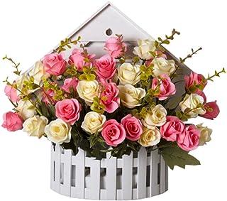 Amazon.es: cesta con flores artificiales