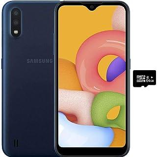 "Samsung Galaxy A01 (32GB, 2GB RAM) 5.7"", Dual Rear Camera, Snapdragon 439, Dual SIM GSM Unlocked US 4G LTE (T-Mobile, AT&..."