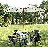 WXFCAS Table de parofe de patin extérieur rond de la table de palettes de 88 pieds parapluie parapluie avec pôle de bois / 8 côtes pour jardin pelouse arrière-plan piscine piscine plage pare-soleil pa