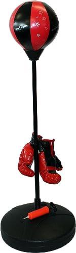 D&S Vertriebs GmbH Junior Punch Jeu de Billes de Gants de Boxe Enfants Sac de Frappe Enfant d'entraîneHommest