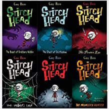 Stitch Head books Collection 6 Books Bundle (The Beast of Grubbers Nubbin,The Ghost of Grotteskew,The Pirate's Eye,The Spider's Lair,Stitch Head,The Monster Hunter) by Guy Bass (2016-06-07)