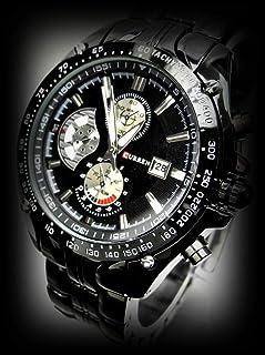 LUXURY HOUR DIAL DATE CLOCK SPORT MEN STAINLESS STEEL QUARTZ WRIST WATCH M-2448