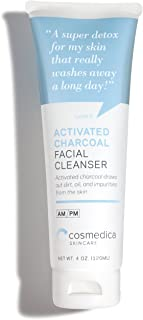 Cosmedica Skincare Activated Charcoal Cleanser - Charcoal Detox Facial Cleanser - 4 oz