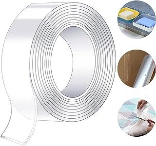 Nano tape-5M Nano cinta doble cara adhesiva, cinta adhesiva resistente lavable y reutilizable para pared,Fijación de Alfom...