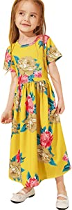 JYC 2019 Baby Girl Dresses Fashion Toddler Girl Kid Flower Print Princess Party Dress Outfits Clothes