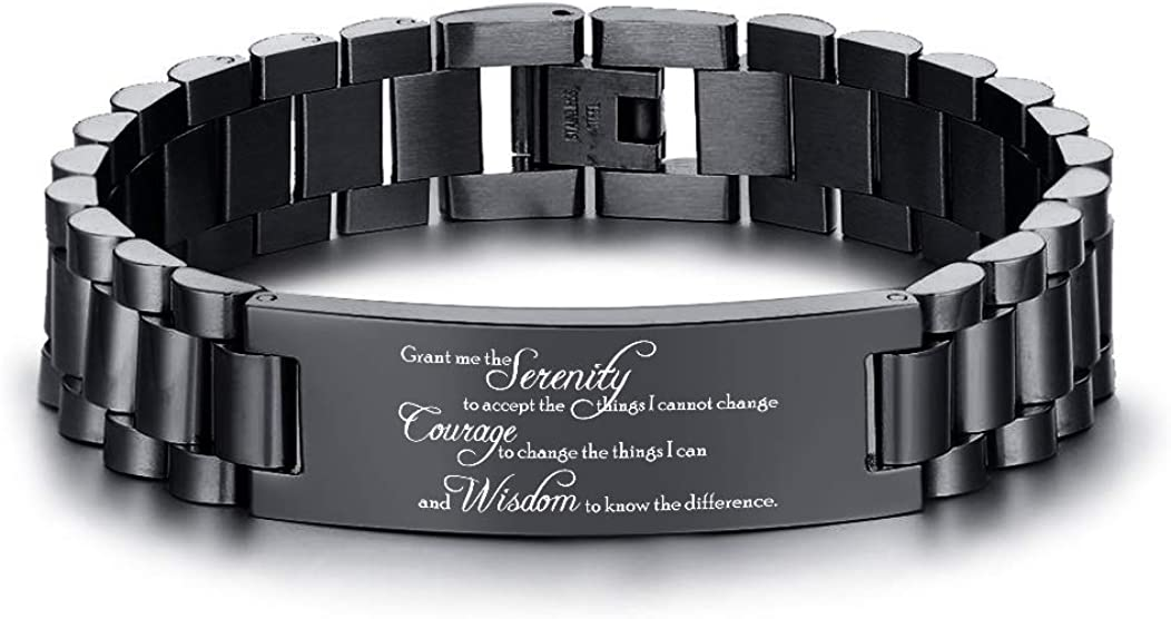 VNOX Engraving Quote Manufacturer regenerated product Bible Ranking TOP20 Verse Prayer Ste Adjustable Stainless