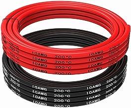 Cavo di avviamento H07/V-K 10/mm di sezione Rosso o Nero 1 nero 5m