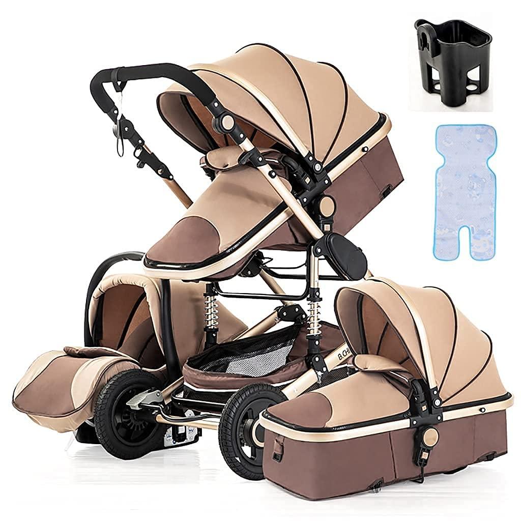 TSHAOSHUNHT 3 in 1 Pushchair Max 57% OFF Sacramento Mall Stroller Aluminum Carriage Baby Com