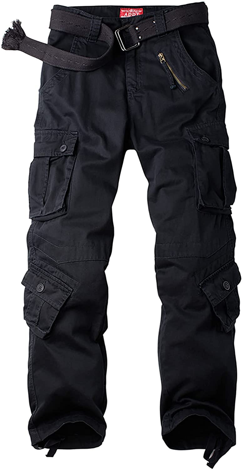 Men's BDU Casual Military Pants, Tactical Wild Army Combat ACU Rip Stop Camo Cargo Work Pants Trousers with 8 Pockets