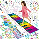SUNLIN Giant Floor Piano Mat, 24 Keys Keyboard Play Mat, Jumbo Musical Instrument Toys Gift for Boys Girls Kids Toddlers (71'x29') - Dance Mat with Record, Playback, Demo, Education Toys for 1-8 Year
