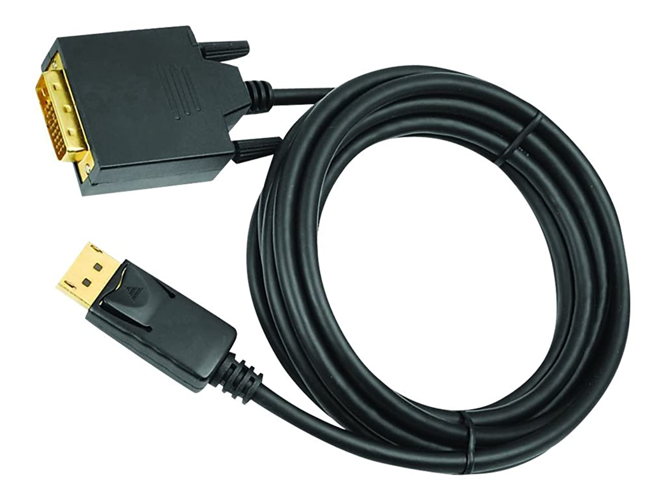 Siig CB-DP1A11-S2 Display Cable, 10', 24+1 Pin Digital DVI (M) to 20 Pin DisplayPort (M), Black