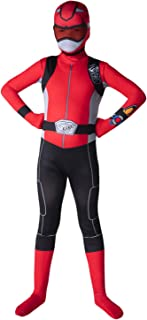 Morphsuits Official Kids Red Power Rangers Costume - Medium (Age 8-10)