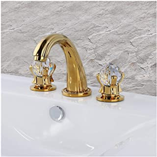 Contemporary Ti-PVD Widespread Bath Roman Tub Taps Bathroom Vessel Faucet Two Handles Three Holes Shower Trim Set Bathtub Faucets Fixture