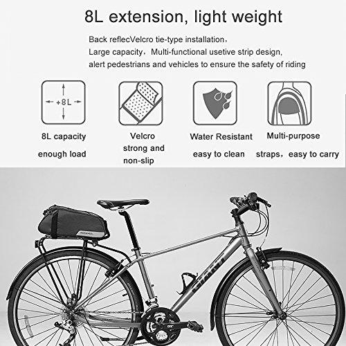 Roswheel Fahrradtasche Fahrrad Satteltasche Gepäcktasche Gepäckträger Tasche Rucksack Seitentasche 7L Schultertaschen Reflektierender(2018 Neuer Stil) - 5