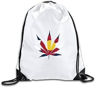 Colorado Plant Flag Drawstring Backpack Bag Gym Sack