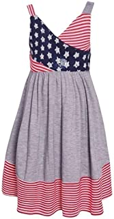 Girl's 4th of July Dress - Americana Sundress for Toddlers, Little and Big Girls