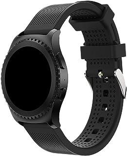 BarRan Gear Sport 2017 / Garmin vivoactive3バンド、Ticwatch E/Galaxy Watch(SUUNTO 3 FITNESS)のための20mm本革ソフトシリコンウォッチストラップ/ vivoactive3 MUSIC/Forerunner 645