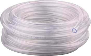 Clear Vinyl Tubing – 1/4'' ID 3/8'' OD PVC Tube Food Grade Flexible Plastic Pipe Hose for Homebrewing, Siphon Pump 10 Meters(32.8ft) Length
