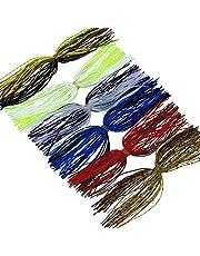 Faldas de Silicona Spinnerbaits DIY Señuelos de Pesca Accesorios de Cebo de Pesca Reemplazo de la Falda de Calamar de la Cuchara Cambio Rapido 50 Hilos de Color Mezclado