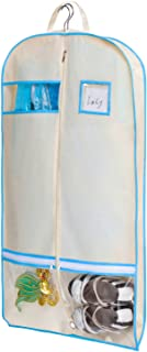 "MISSLO Breathable 40"" Costume Garment Bag Accessories Zipper Pockets Dance, Dress, Suits Dust Cover Travel (Beige)"