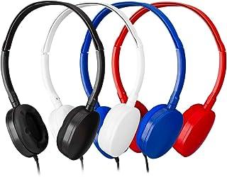 بالك سماعات رأس للأطفال للأطفال، سماعات للفصول المدرسية، سماعات أذن -YMJ(Y4 ملونة مختلطة) للطلاب والمكتبات والمختبرات
