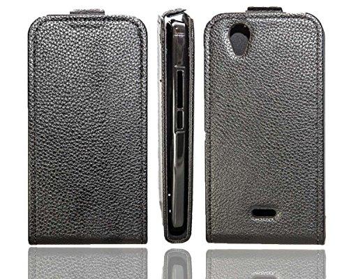caseroxx Flip Cover für Wiko Birdy 4G, Tasche (Flip Cover in schwarz)